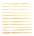 Watercolor stripes strokes orange brushes vector image