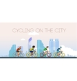 Cycling on the city Flat style vector image