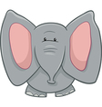 elephant character cartoon vector image