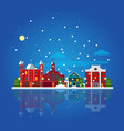 flat winter city landscape template vector image