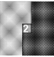 Halftone Dots Style Black White Seamless Patterns vector image