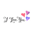 i love you w hearts vector image