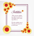 Invitation template with yellow flowers vector image