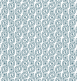 Stylish seamless retro pattern with swirls vector image