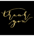 Thank you type on Golden vector image