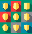 trophy icons coat of arms vector image