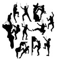 Extreme Climber Sport Silhouettes vector image