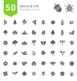 Nature and Life Solid Icon Sets vector image vector image