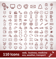 Icons Large set 110 Items vector image