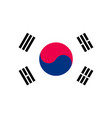 south korea flag flat style vector image