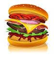 big bacon burger vector image