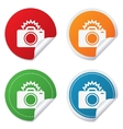 Photo camera sign icon Photo flash symbol vector image vector image
