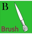 B letter alphabet Coloring book brush vector image