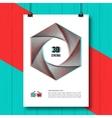 Cinema 3D creative concept poster brochure vector image