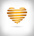 Golden Spiral heart on grayscale vector image