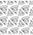 Hand Drawn Ink Pizza vector image