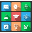 Iconset for educational app vector image
