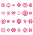 pink flowers set vector image