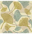 Seamless ginkgo background vector image