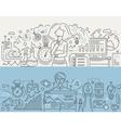 SEO Optimization Planning - line design banners vector image