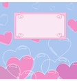 background with heart with banner 2 vector image
