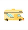 Yellow Travel Van Family Motorhome Flat Colorful vector image