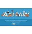 Zoo Park Banner Website Template vector image