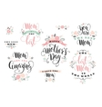 Mothers Day Lettering design vector image