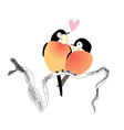 funny bird lovers vector image