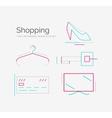Outline design shopping icon set vector image vector image
