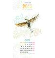 calendar for 2015 april vector image vector image