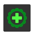 Medical Sticker Flat Button vector image