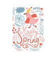 Happy Spring vector image vector image