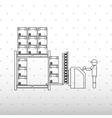 logistic service design vector image