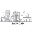 baghdad architecture line skyline vector image