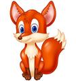 Cartoon animal fox vector image