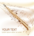 Classical soprano sax on musical notes background vector image