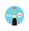 delicious drinks cola bottle on blue background vector image