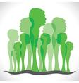 green men forest vector image