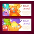 Monsters horizontal banners vector image