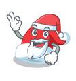 santa christmas hat character cartoon vector image