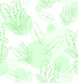 seamless pattern with spinach and its leafs vector image