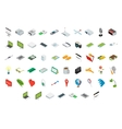 Big set of isometric volumetric icons vector image