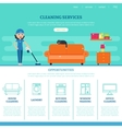 Cleaning Company Web Page Template vector image