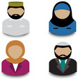 muslim avatars vector image vector image