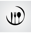 Cutlery black vector image
