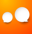 Paper white round speech bubbles vector image