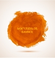 Abstract circle orange watercolor hand-drawn vector image vector image