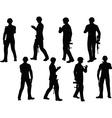 soldier walking vector image