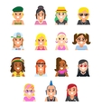 icon subcultures woman in flat style vector image